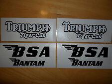 BSA Bantam or Triumph Tiger Cub tank decals