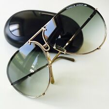 vintage PORSCHE DESIGN 5623 by Carrera sunglasses black MEDIUM aviator rare