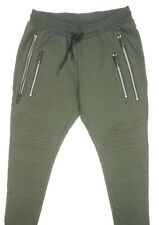 NEW $180 ANTONY MORATO DEEP GREEN MOTO ZIP FLEECE JOGGER SWEATPANTS SIZE 2XL