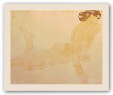 Femme nue, allongee sur le venture August Rodin Art Print 27x34