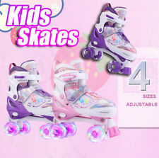 Roller Skates for Girls Boys and Kids, 3 Size Adjustable Toddler Roller Skates