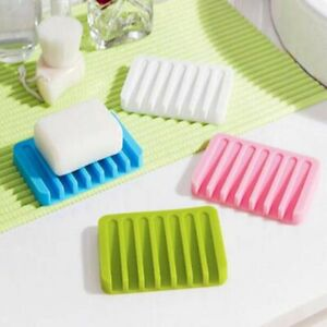 Silicone Soap Holder Flexible Soap Dish Plate Holder Soapbox Container Storage