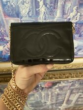 CHANEL Chained Wallet On Chain WOC Crossbody Purse Bag