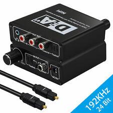 192kHz Digital Toslink to Analog Audio Converter L/R DAC 3.5mm Headphone Jack 5V