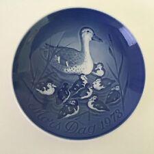 1973 Bing & Grondahl B & G Mother's Day Mors Dag Plate Denmark - Ducks