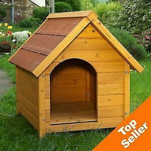 (TOP QUALITY) Wood Spike Classic Dog Kennel with Waterproof Roof Cat House