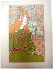 Louis Rhead. Jane. L'Estampe Moderne avec serpente légendée. 1897