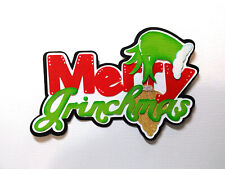 Merry Grinchmas Title paper piecing Premade Scrapbook Pages