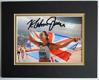 Katarina Johnson-Thompson Signed Autograph 10x8 photo display Athletic AFTAL COA