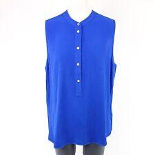 MICHAEL KORS Top Bluse Shirt MH54KPX1U4 Gr 42 XL Blau Viskose NP 189,- NEU