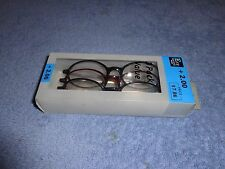 IN BOX 3 PACK OF READING GLASSES 2.00 PLASTIC FRAME W METAL TEMPLE  2.0