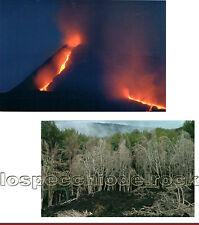 2 Cartoline da collezione -il vulcano Etna - Il gigante di fuoco - Sicilia -