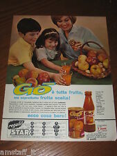 AE18=1963=SUCCO DI FRUTTA GO STAR=PUBBLICITA'=ADVERTISING=WERBUNG=