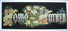 art print~What is HOME without a MOTHER~bird nest flower Victorian vtg repr 18x8