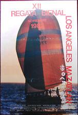 Original Poster Mexico Mazatlan USA Mazatlan Regata Bienal '82 Race Sailboat Sea