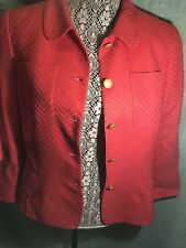 Rene Lange Ladies Red Suit With Gold Button Detail