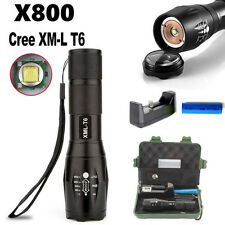 XM-L T6  LED Zoomable 5000Lm Tactical Flashlight Torch Lamp+Case Camp Sport Tool
