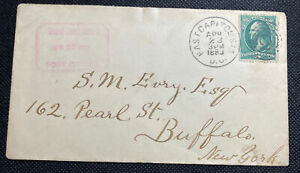 1883 U.S. Congress Cover With East Capital Station Cancel With Scott #207 SON