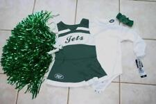 CHEERLEADER COSTUME NEW YORK JETS POM POMS OUTFIT HALLOWEEN CHEER SET 24 MTHS