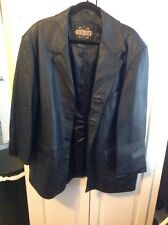 Guide Gear black  leather lined jacket Button Front , XL