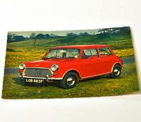 RPP Postcard Mini Cooper Red Car Classic Vintage Unused C368
