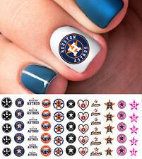 Houston Astros Baseball Nail Art Decals - Salon Quality!
