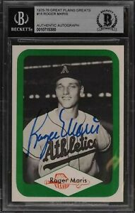 Roger Maris autographed signed card BECKETT AUTHENTIC autograph New York Yankees