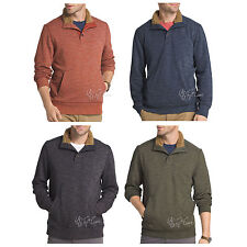 NWT G.H. Bass & CO. Rock River Long Sleeve Button Mock Fleece Pullover MSRP $80