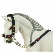 Strass-Halfter Führ-Leine Zubehör passend für Schleich Papo Bulliland Pferde