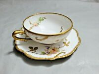 Antique Old Abbey Limoges Tea Cup Saucer Set Rare Find