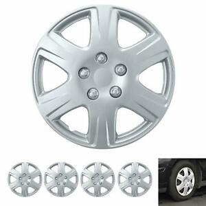"""15"""" Hubcaps for Car Accessories Wheel Covers Replacement Tire Rim Replica 4-Pack"""