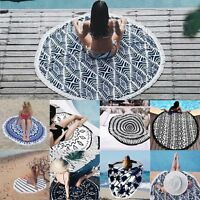 New Mandala Round Tassel Tapestry Hippie Beach Throw Towel Boho Roundie Yoga Mat