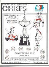 1983 Syracuse Chiefs vs Toledo Mudhens scored program & ticket stub