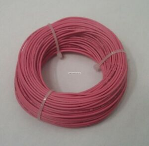 22 AWG tinned copper stranded hook up wire, 100 feet Pink UL1007