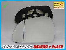 Wing Mirror Glass Audi A3 A4 A5 A6 A8 Q3 2008+ Wide Angle HEATED Left Side #A018