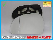 Cristal Espejo Ala AUDI A3 A4 A5 A6 A8 Q3 2008+ Gran Angular Calentada Izquierda #A018