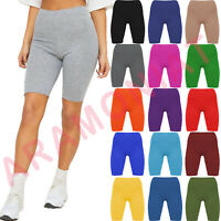 LADIES WOMENS CYCLING SHORTS DANCING SHORTS LEGGINGS ACTIVE CASUAL SHORTS 8-22