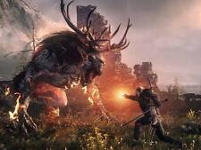 POSTER THE WITCHER 2 3 WILD HUNT WOLF LUPO GERALT OF RIVIA VIDEOGAME FANTASY #15