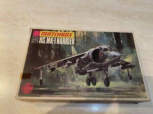 Rarissimo kit Matchbox Aereo HS.MK-1 Harrier 1973 1:72 nuovo in box