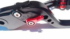 Honda CBR600 F4i 01-06 Adjustable Black Levers Red Adjusters (Shorty)