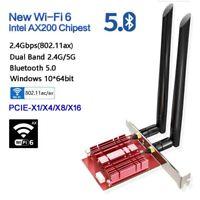 3000M 802.11ax Wifi 6 PCIe Wireless Network Card bluetooth 5.0 Intel AX200 Win10