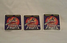 Mello Smello Scratch & Sniff Sticker Donald Duck Discover Citrus Fruits Lot of 3