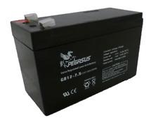 SET OF TWO -  GB127.5 12VOLT 7.5Ah PEGASUS AGM VRLA MOBILITY/ SECURITY BATTERY