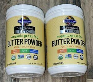 2 Pack - Keto Butter Powder Garden of Life Organic Grass Fed: Body & Brain Fuel