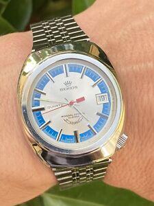 Squale Berios Y1537 Vintage Diver Watch quartz Eta Esa 9362 Uhr Montre