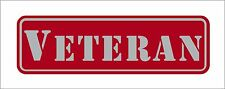 Veteran Red Hard Hat Tool Box Lunch Box Helmet 3M Graphic Stickers Decal