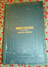 1875 - FAMILY PRAYERS by ASHTON OXENDEN - Eighth Thousand -  Hardback
