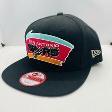 New listing New Era San Antonio Spurs Vintage Logo 9FIFTY NBA Snapback Hat Cap Black
