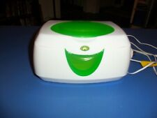 White and Green Electric Warm Glow Wipe Warmer – Previously Owned