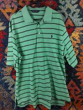 POLO Golf Ralph Lauren mens seafoam navy striped pima polo shirt XXL EUC